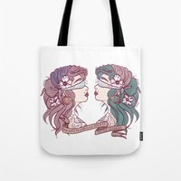 gypsy Tote Bags featuring Gypsy by Pilotinta