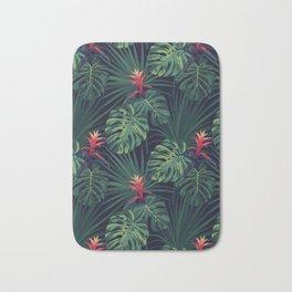 Tropical pattern with Guzmania flowers Bath Mat