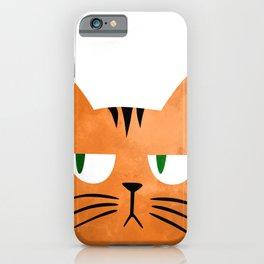 Orange cat with attitude iPhone Case