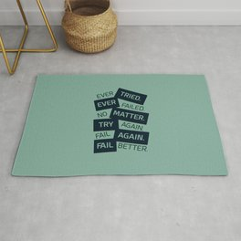Lab No. 4 Ever Tried Samuel Beckett Motivational Quotes Rug