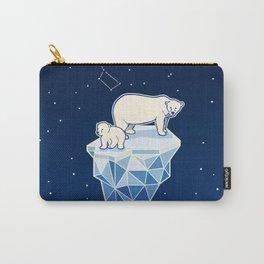 Polar bears on iceberg Carry-All Pouch