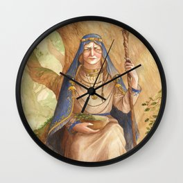 Ruta ~ A Compendium Of Witches Wall Clock