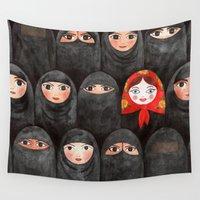 arabic Wall Tapestries featuring RUSSIAN IN ARABIC WORLD by ZINAVARTA