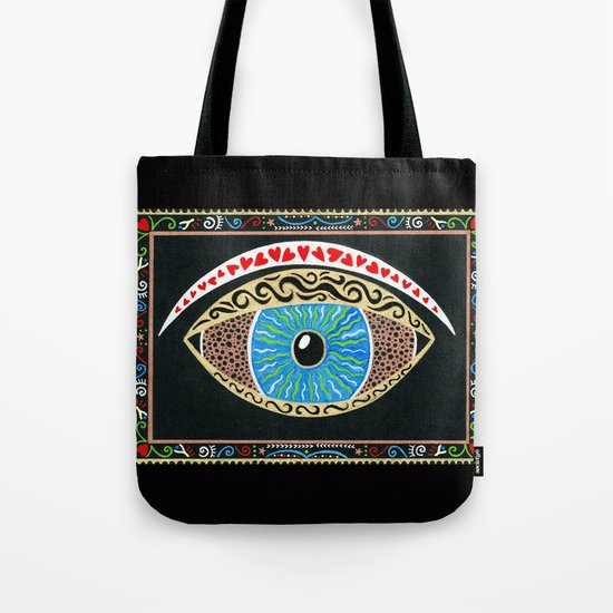 The eye sees all Tote Bag