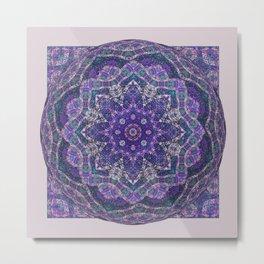 Batik Meditation  Metal Print