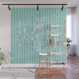 Ocean Reflection – Blue / Teal Midcentury Abstract Wall Mural