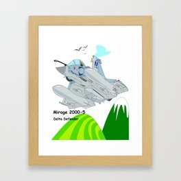 Mirage 2000-5 Aircraft Framed Art Print