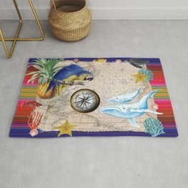 Tropical World Collage Rug