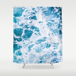 Perfect Ocean Sea Waves Shower Curtain