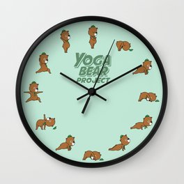 Yoga Bear Wall Clock