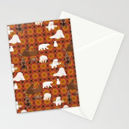 Bears Pattern6 Stationery Cards