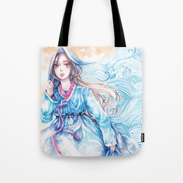 Wavediver - Korean Hanbok Manga Illustration Tote Bag