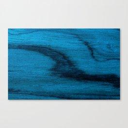 Beautiful Unique mahogany blue wood veneer design Canvas Print