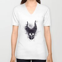 maleficent V-neck T-shirts featuring maleficent  by jerbing