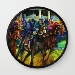 The Race No. 2B by Kathy Morton Stanion Wall Clock