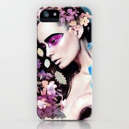 Depressed women iPhone Case