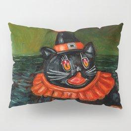 Black Cat Clown Pillow Sham