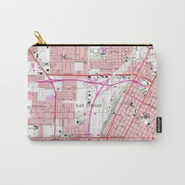 Vintage Map of Las Vegas Nevada (1967) 3 Carry-All Pouch