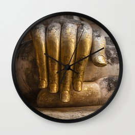 Golden Hand of a Buddha in Wat Sri Chum Thailand Wall Clock