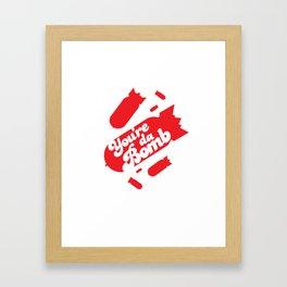 Da Bomb Framed Art Print