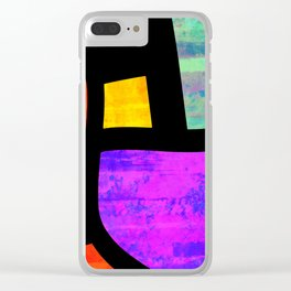 All the Right Angles, Abstract Art Clear iPhone Case