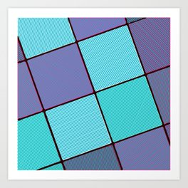 Purple and Aqua Art Print