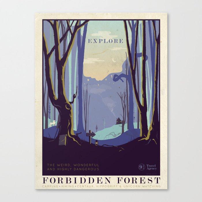 Explore The Forbidden Forest Leinwanddruck