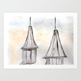 Twin Spires Churchill Downs Watercolor Art Louisville, Kentucky Art Print