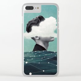 Behind the cloud ... Clear iPhone Case