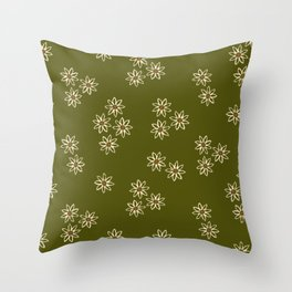 Small White Daisies Throw Pillow