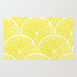 Lemon slices pattern design II Rug