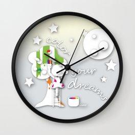 Color your dreams Wall Clock
