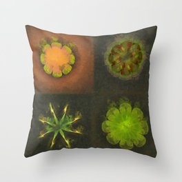 Squirm Bared Flowers  ID:16165-120806-85390 Throw Pillow