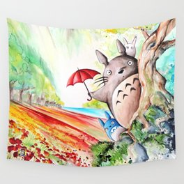 """Behind the tree"" Wall Tapestry"