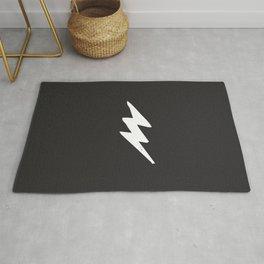 White Lightning Bolt Rug