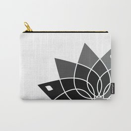 Gray flower Carry-All Pouch
