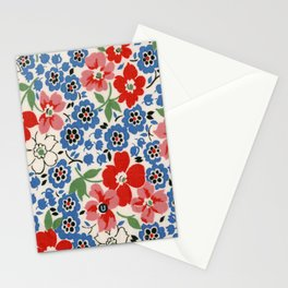 UPPERCASE feedsack floral Stationery Cards