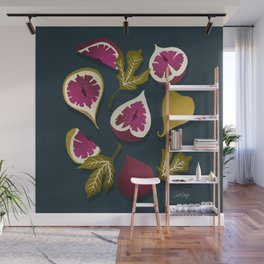 Fig Collection – Teal Wall Mural