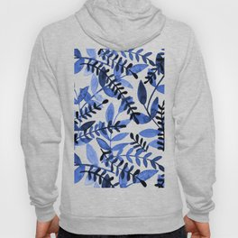 Watercolor branches - blue Hoody