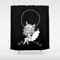 werewolf Shower Curtains featuring ▴ werewolf ▴ by PIXIE ❤︎ PUNK