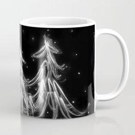 White Christmas Snow and Christmas Tree light painting Coffee Mug