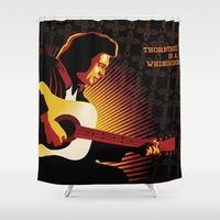 johnny cash Shower Curtains featuring Johnny Cash: ThornTree in a Whirlwind by Sassan Filsoof