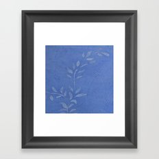 Pretty Vine Blue  - Decor - Women - Tech - Floral - Home Framed Art Print