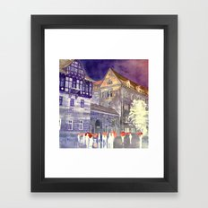 street in Poznan part 1 Framed Art Print