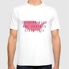 Talking Over One Another Since 1775 Mens Fitted Tee White MEDIUM