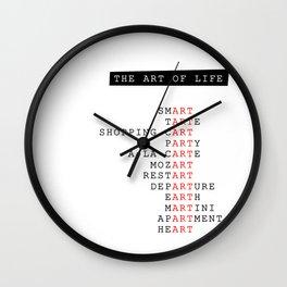 The art of life Wall Clock