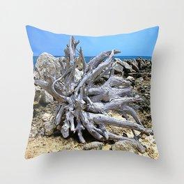 Bermuda  Driftwood Throw Pillow