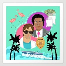 Miami Vice: Crockett and Tubbs Art Print