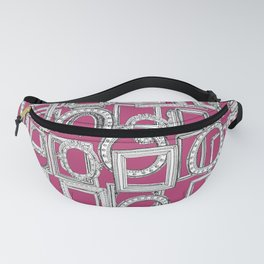 picture frames aplenty fuchsia pink Fanny Pack