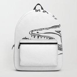 Barracuda Fish Doodle Art Backpack